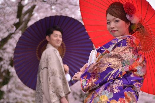鳥取でウェディングの前撮りするなら桜のシーズンに!