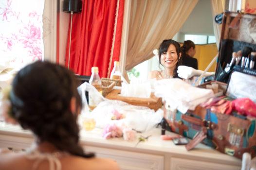 鳥取結婚式の砂丘の家レイガーデン 新婦様ブライズルーム